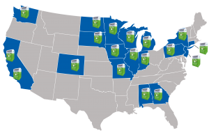 USAgain has a network of more than 10,000 collection bins in 18 states.
